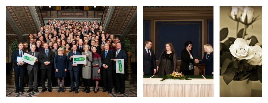 Elävä maaseutu - Hyvinvoivat ihmiset. Kuva 2014-2020 strategian allekirjoitustilaisuudesta.